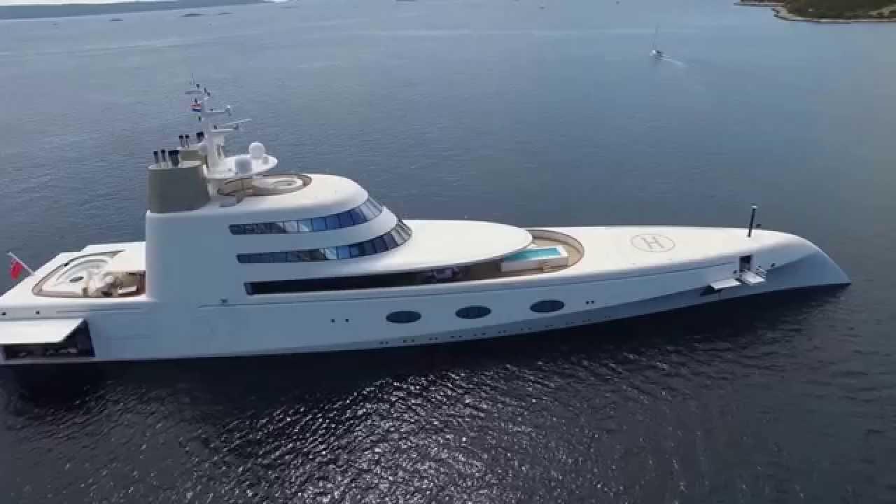 Mega Yacht A Drone Trogir Croatia 4K YouTube