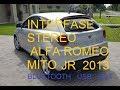 Sacar stereo Alfa Romeo Mito instalar Interfase Denson para bluetooth y USB Auxiliar TUTORIAL