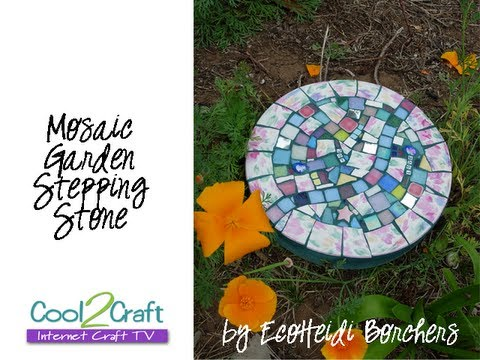 How To Make Mosaic Stepping Stone By Ecoheidi Borchers
