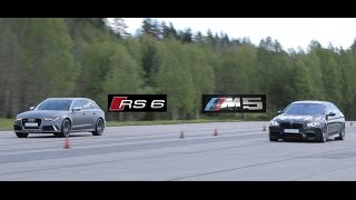 Tuned Audi RS6 vs tuned BMW M5 F10 (Bimmers of Sweden Official)(Tuning on the BMW M5 F10: * Schmiedmann Muffler delete * Schmiedmann X-pipe * Schmiedmann Catless downpipes * Burger Motorsport Stage 1 * Dinan ..., 2015-07-19T22:01:12.000Z)