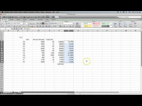 Inventory ABC Analysis