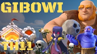 TH11 ATTACK STRATEGY GIBOWI ! CWL TH11 ATTACKS ! COC TH11 ATTACK STRATEGY / Clash of clans
