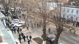 ����������� � �������� ��������� ������� ��������. SWAT bus crash in Kharkov titushki