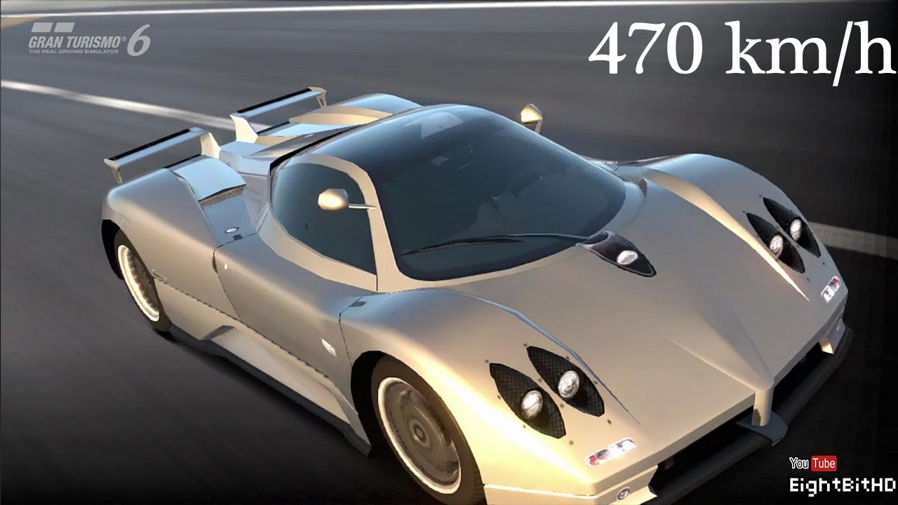 Gran Turismo 6 Pagani Zonda C12S '2000 - 470 km/h Top Speed - YouTube