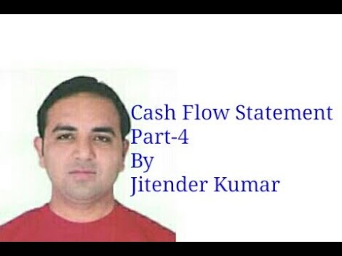 Cash Flow Statement- Investing Activities- By Jitender Kumar