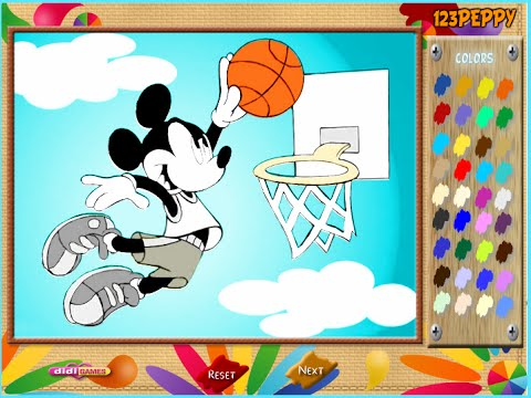 Mickey Mouse Coloring Games For Kids - YouTube