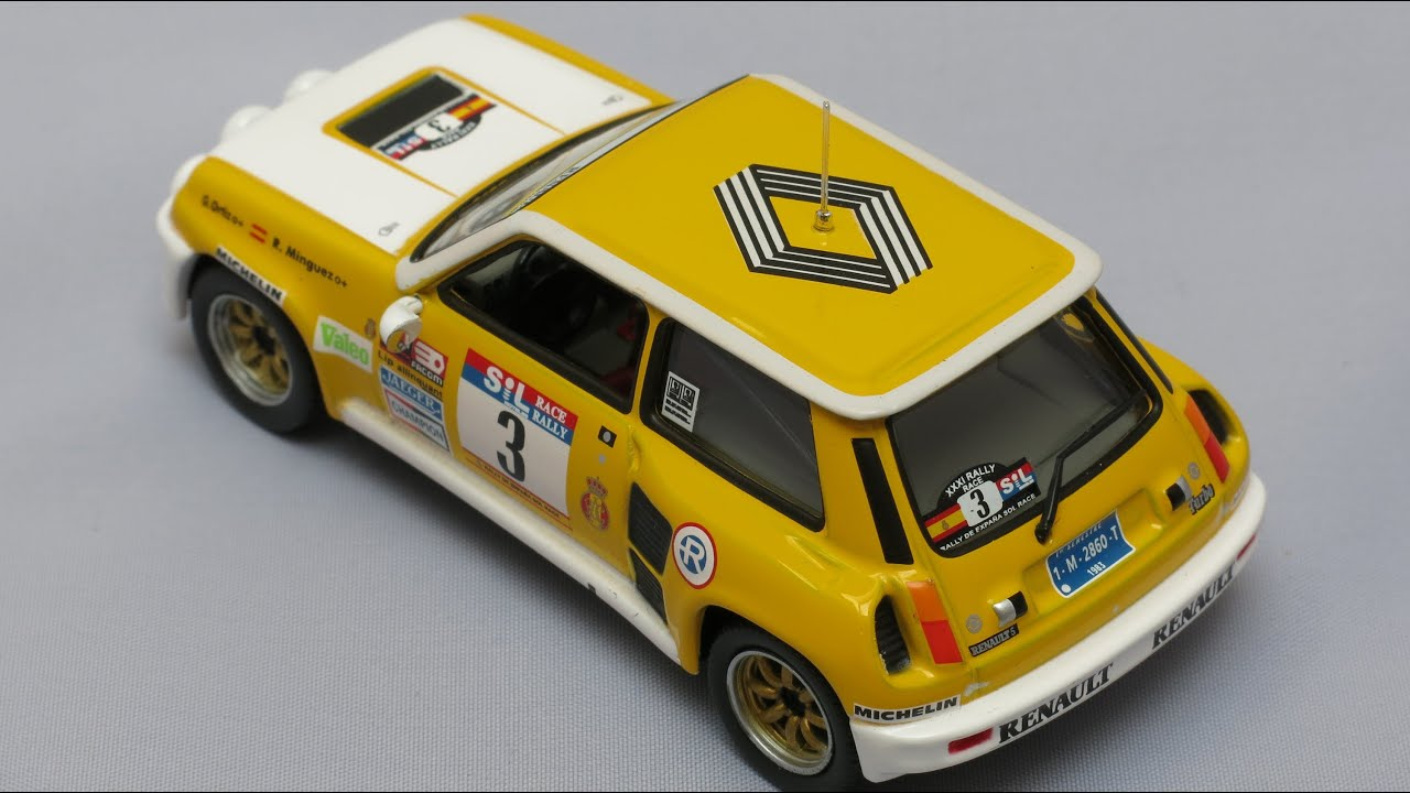 renault 5 turbo tour de corse 1989 ixo altaya models 1 43 ncdr 11 youtube. Black Bedroom Furniture Sets. Home Design Ideas