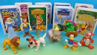 1997 WALT DISNEY'S MASTERPIECE COLLECTION SET OF 9 McDONALD'S HAPPY MEAL KIDS TOYS VIDEO REVIEW thumbnail