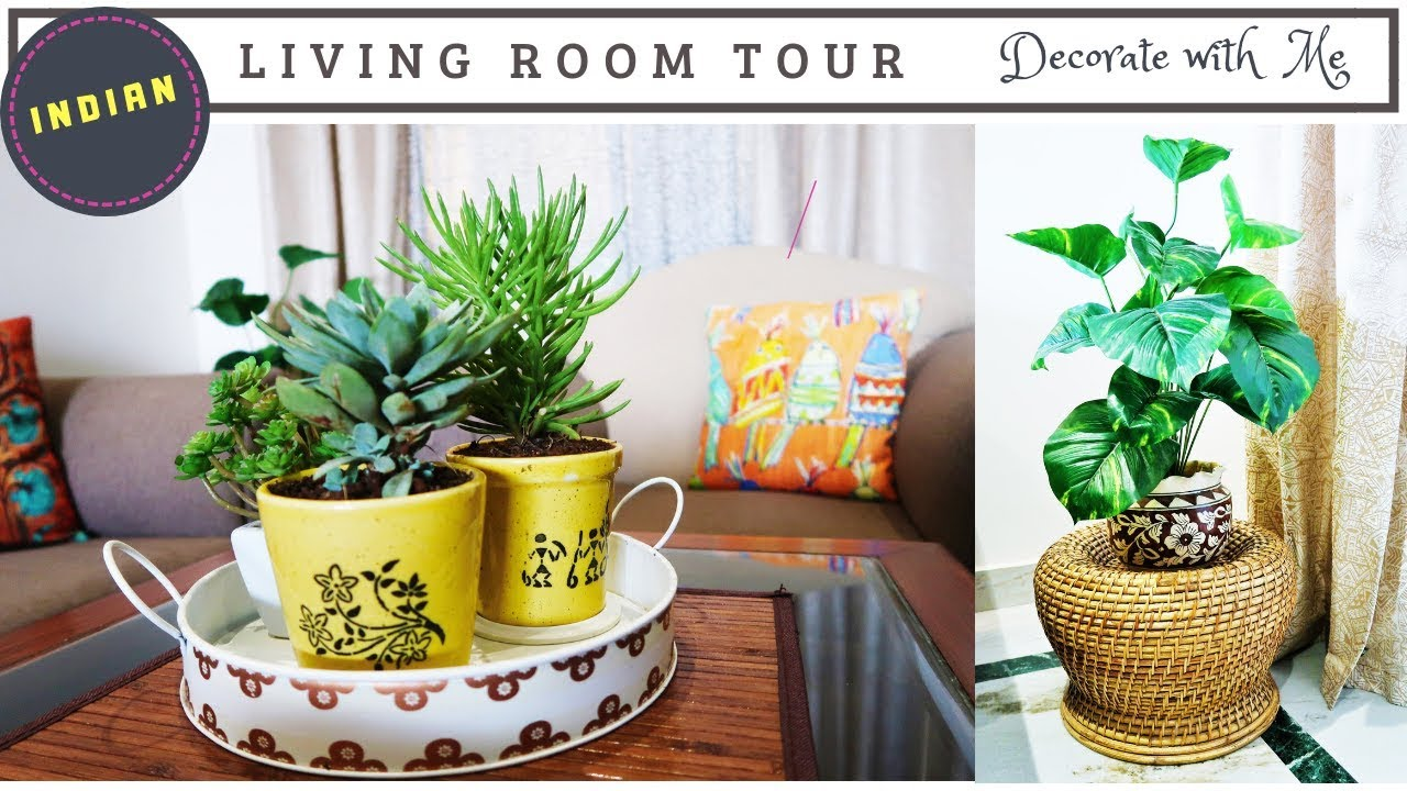 Indian Living Room Decorating Ideas How To Decorate Small Living Room Living Room Tour Youtube