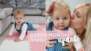 7 Month Baby Update | She is Crawling but not Sleeping!!!