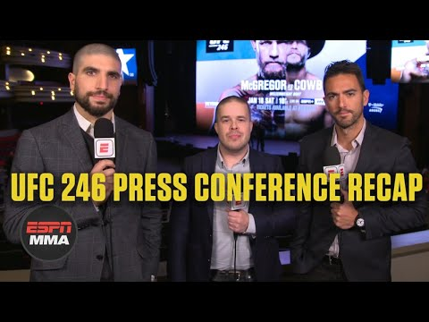No trash talk between Conor McGregor and Donald Cerrone | UFC 246 Press Conference | ESPN MMA