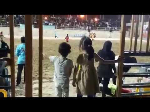 Women playing football in Bandar Abbas