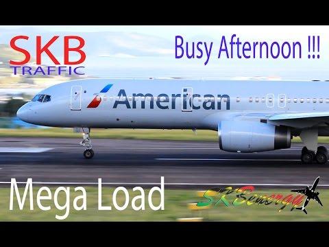 Mega Load !!! AC A320, AA A319, AJ 727, AA 737, AA 757, DA 757, UA 737, BA 777, LI ATR.. @ St. Kitts