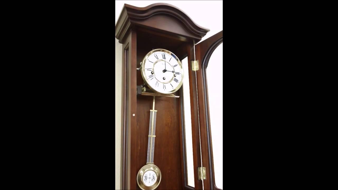 Hermle Brooke 70815 N90341 Chiming Wall Clock Youtube
