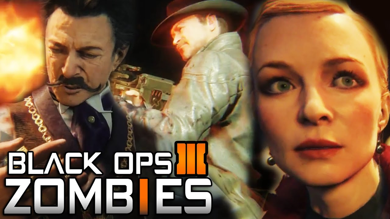 Black Ops 3 Zombies New Characters In Shadows Of Evil Bo3 Zombies Characters Gameplay