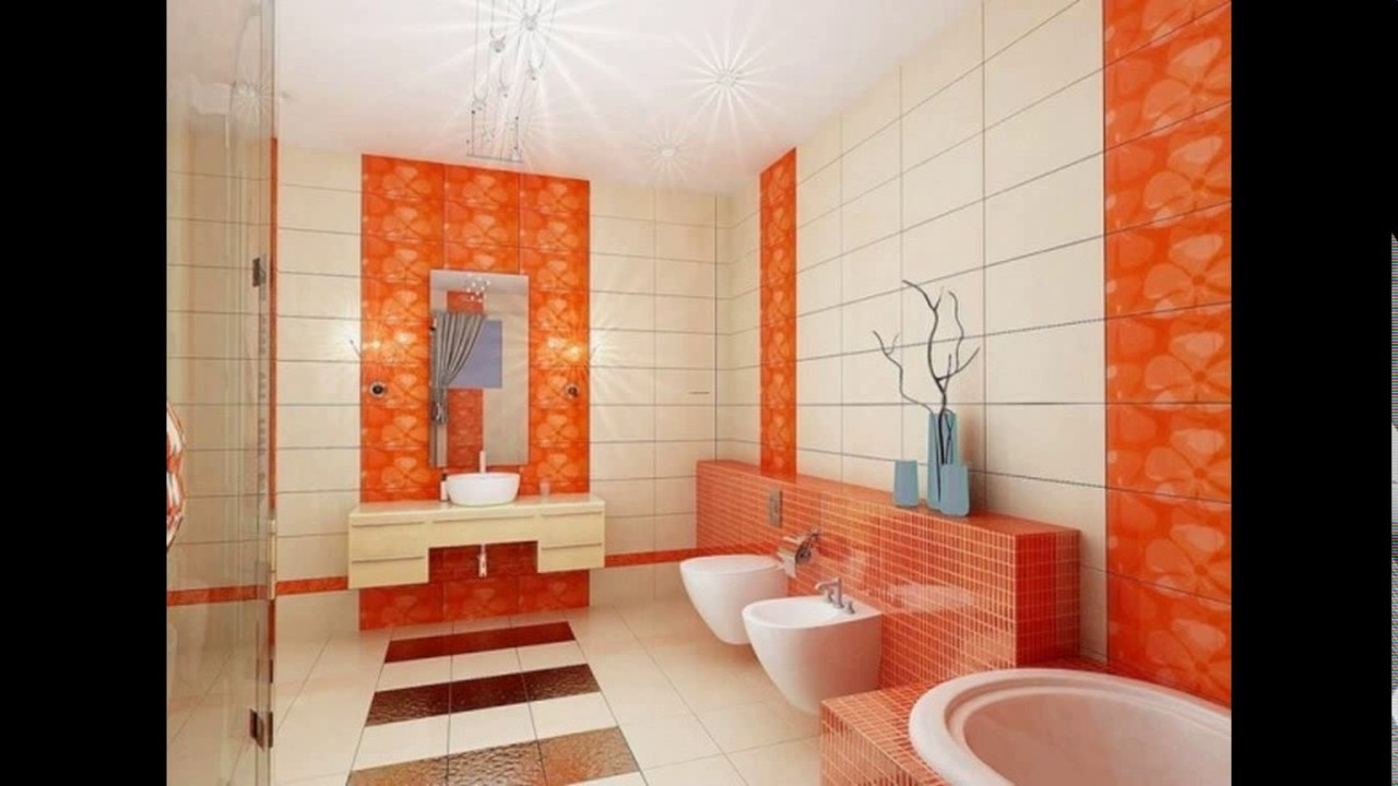 Indian bathroom wall tiles design - YouTube
