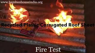 Recycled Plastic Roof Sheet ( Fire Test )