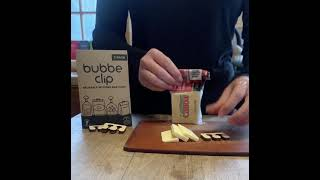 Plastic wrappers and Bubbe Clip