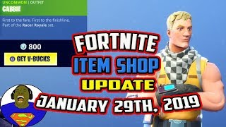 FORTNITE ITEM SHOP UPDATE NEW CABBIE SKIN WHIPLASH ACCOLADES EMOTE JANUARY 29, 2019