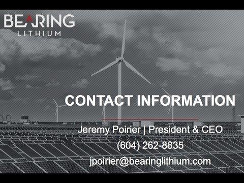 #Bearinglithium $BRZ.V $BRGRF One of the Highest Grade Lithium Brine Resources on the Globe