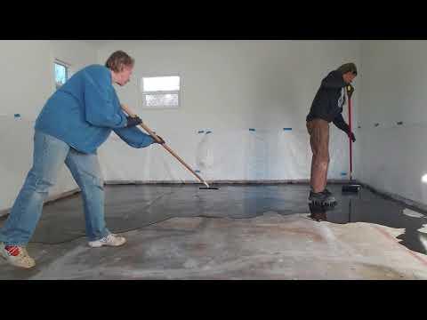 Epoxy Glitter Floor Over Cement- Raised Design