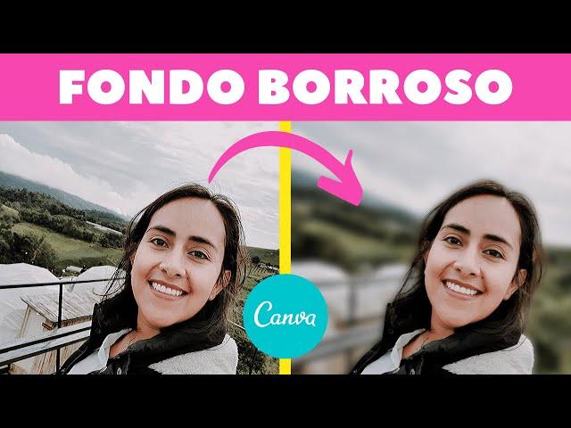 Cómo hacer el Fondo Borroso en una Foto (Canva Pro)   Aprende Canva con Diana Muñoz