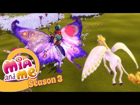 Flying unicorn and a big butterfly - Mia and me Season 3