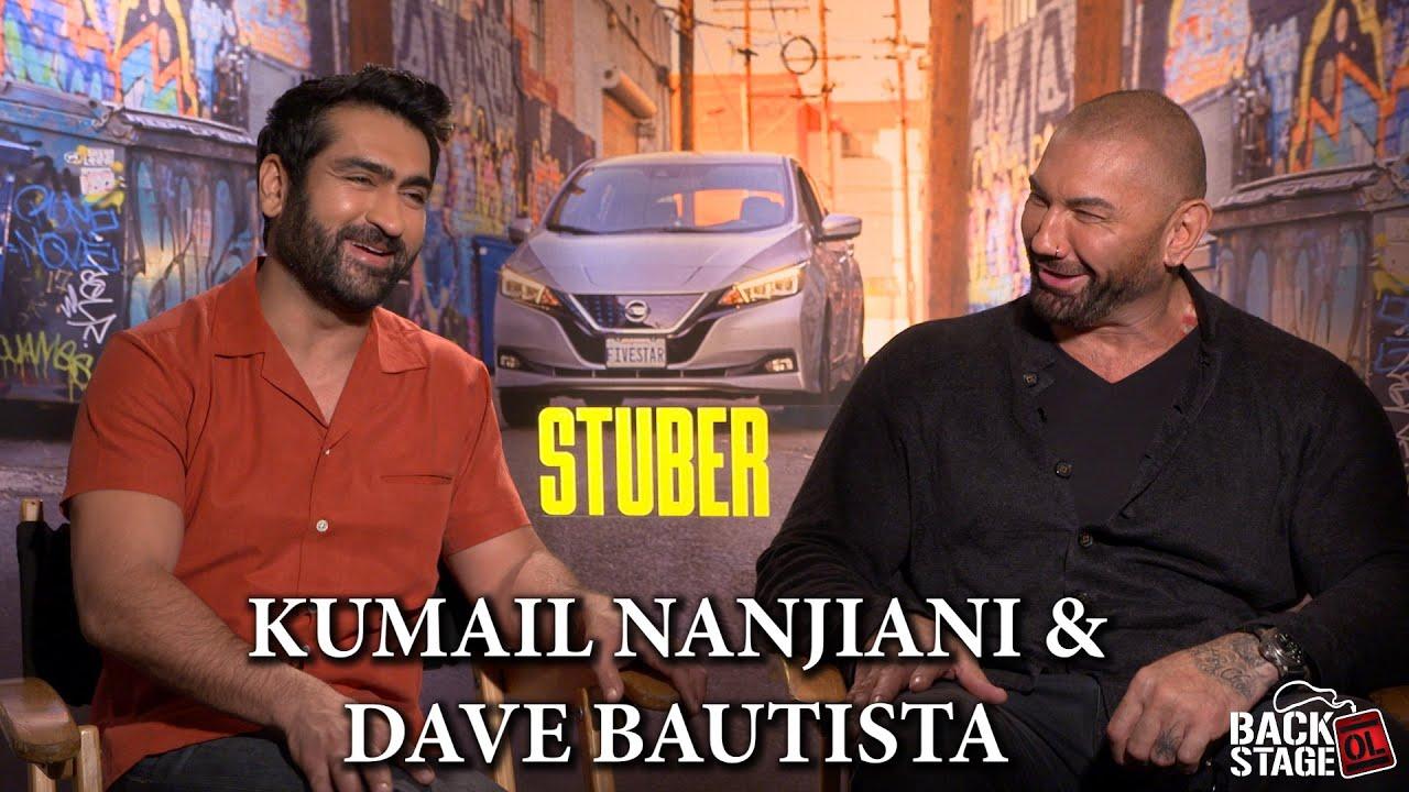 Dave Bautista Shocked by Kumail Nanjiani's Horrible Uber Rating | STUBER  Cast Interviews