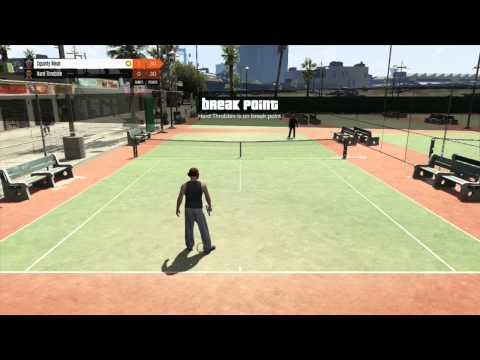 Grand Theft Auto 5 Multiplayer #1 - Tennis and fun
