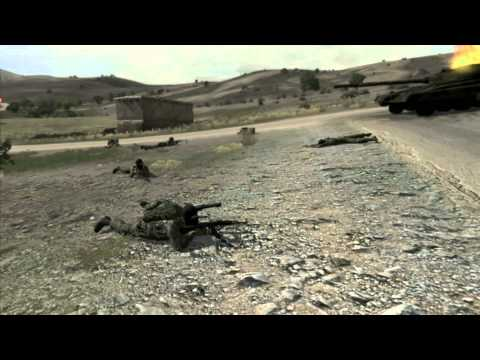 Arma 2 Combined Operations. Village battle in Takistan.