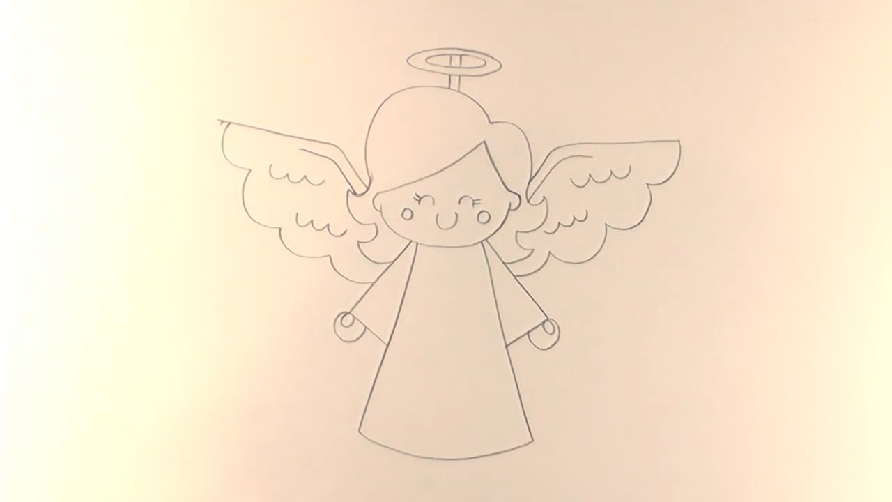 Uncategorized How To Draw A Christmas Angel r e a p how to draw cartoon christmas angel youtube