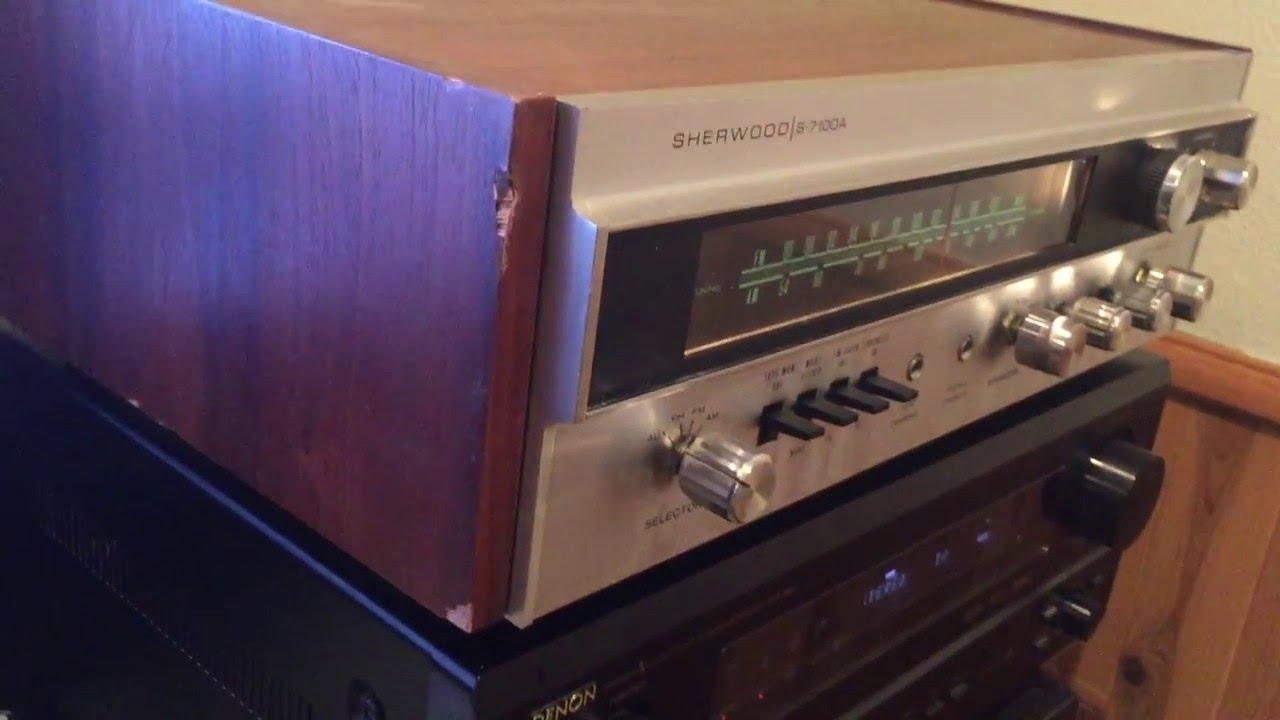 1970 Sherwood S-7100A AM/FM Stereo Receiver walkthrough