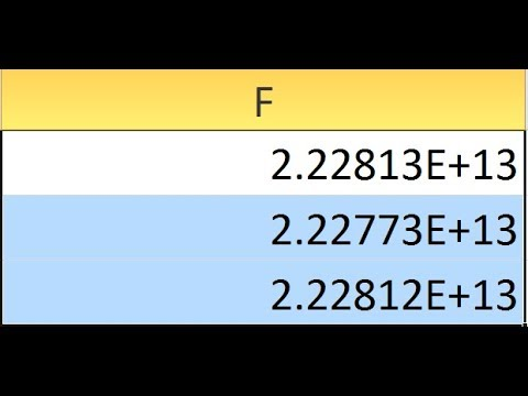 Excel remove e scientific notation from number