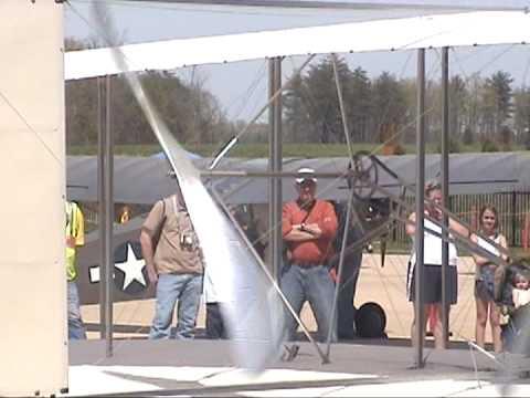 2009 04 25 1908 WRIGHT MILITARY FLYER ENGINE START UP 1430EDT