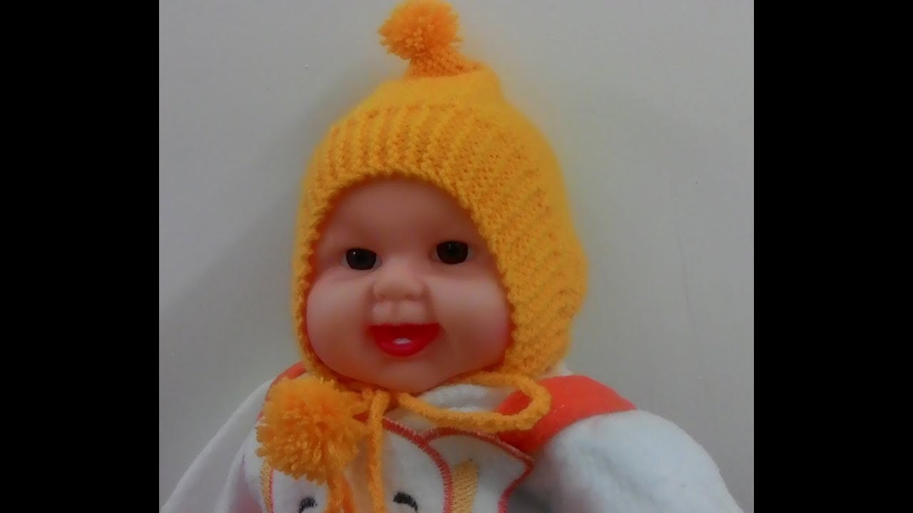 Knitting Topi Baby : Baby cap for born in hindi knitting छोटे बच्चे के