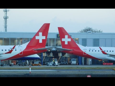 Spotting at London City Airport 31/03/2017! *ERJ, ATR, RJ85, RJ100, Dash 8, Saab 2000, Bizz Jets*