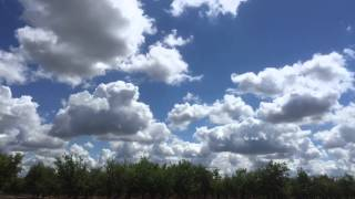 Cumulus Clouds Over Visalia California Time-lapse 4-8-2015