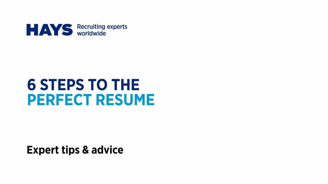 6 steps to creating the perfect resume - YouTube