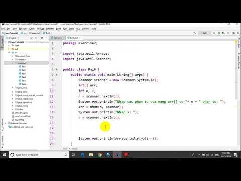Bài tập Java – Bài 2.6: Chèn giá trị cho trước vào mảng đã sắp xếp