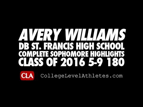 Avery Williams (DB/2016) Sophomore #D1Bound Mixtape (St. Francis HS, CA)
