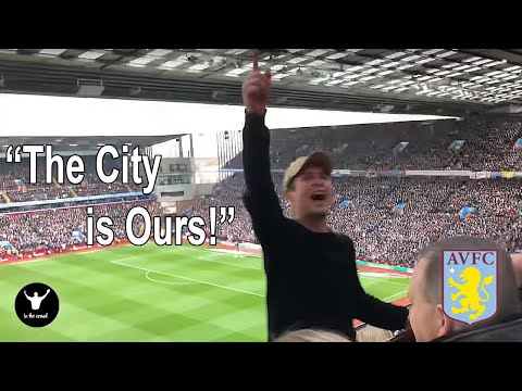 Aston Villa Fans VERY LOUD Beating Birmingham City 4-2 In The Second City Derby