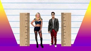 How Much Taller? - Ellie Goulding vs Bruno Mars!
