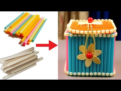 How to make jewellery box at home with waste material - Jewellery box craft - Best out of waste
