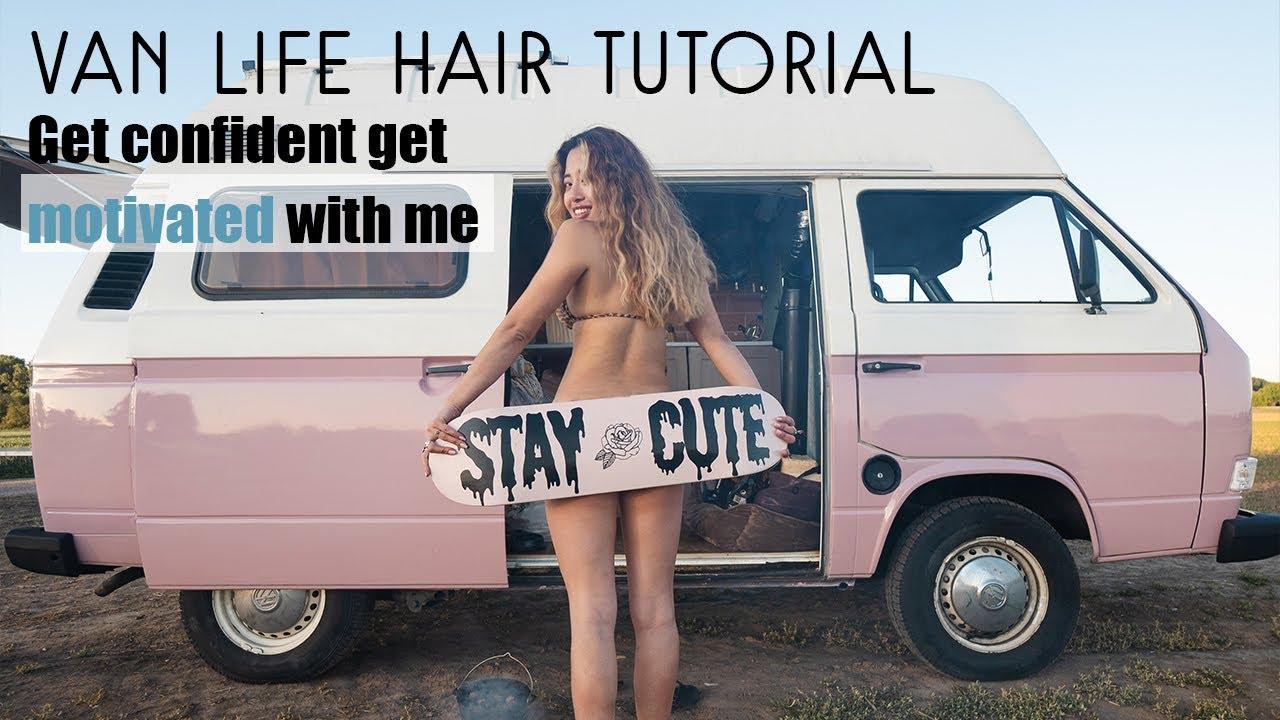 Wavy Mermaid Hair Do Inside My Van