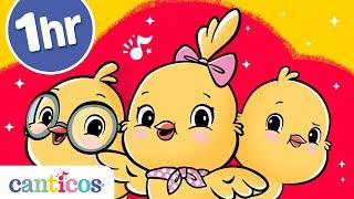 Canticos   1 hora con los pollitos Ricky, Nicky y Kiki   Canciones infantiles   Aprende inglés