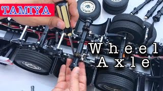 Upgrade to Aluminum wheel Axle  for  Tamiya Truck Trailer 1/14