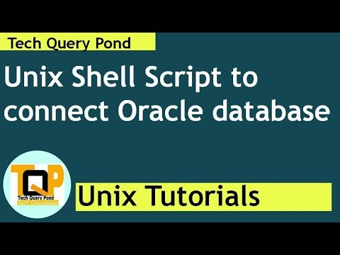 Unix tutorial : Unix Shell Script to connect Oracle database