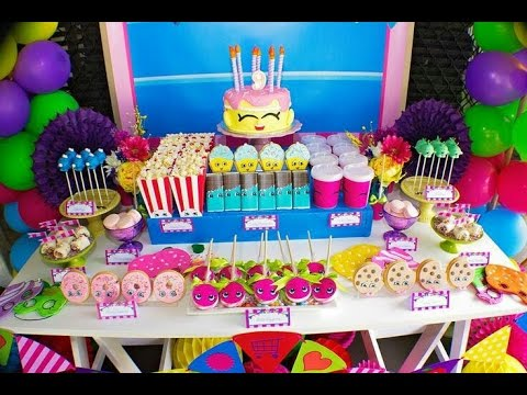 Fiesta de shopkins 2017 party girl fiestas infantiles for Decoracion de adornos