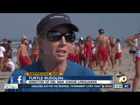 San Diego Junior Lifeguard competition at Del Mar beach