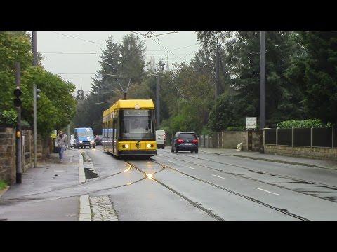Dresden Straßenbahnnetz Route 4 Weinböhla to Laubegast Kronstädter Platz